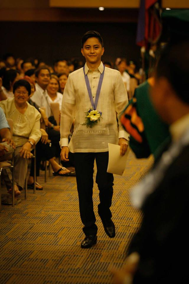 Sandro Marcos Representing BBM at the 53rd commencement of Perpetual Help College